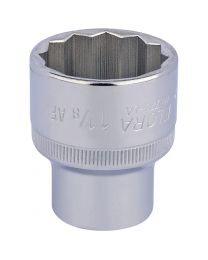 1.1/8 Inch 1/2 Inch Square Drive Elora Bi-Hexagon Socket