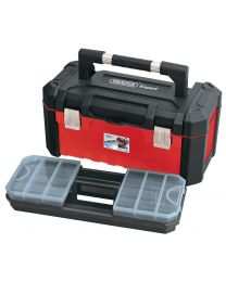 Draper 585mm Tool Box with Organisers and Tote Tray