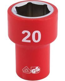Draper 3/8 Inch Sq. Dr. Fully Insulated VDE Socket (20mm)