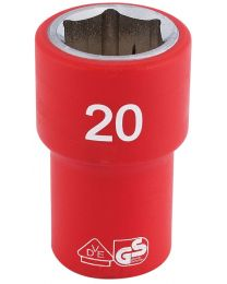 Draper 1/2 Inch Sq. Dr. Fully Insulated VDE Socket (20mm)