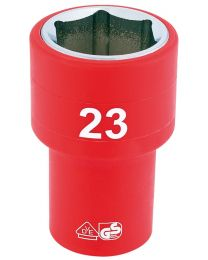 Draper 1/2 Inch Sq. Dr. Fully Insulated VDE Socket (23mm)