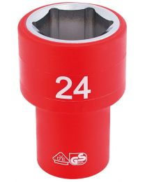 Draper 1/2 Inch Sq. Dr. Fully Insulated VDE Socket (24mm)