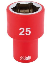 Draper 1/2 Inch Sq. Dr. Fully Insulated VDE Socket (25mm)