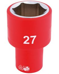 Draper 1/2 Inch Sq. Dr. Fully Insulated VDE Socket (27mm)