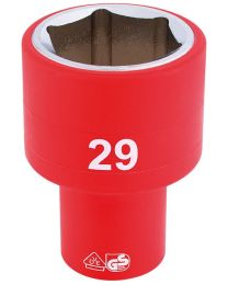 Draper 1/2 Inch Sq. Dr. Fully Insulated VDE Socket (29mm)