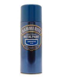 Hammerite 5092970 Metal Paint: Smooth Blue 400ml (Aerosol)