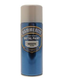 Hammerite 5084785 Metal Paint: Smooth Silver 400ml (Aerosol)