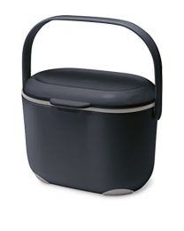 Addis 2.5 Litre Kitchen Compost Caddy, Black/Grey