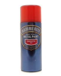 Hammerite 5092967 Metal Paint: Smooth Red 400ml (Aerosol)
