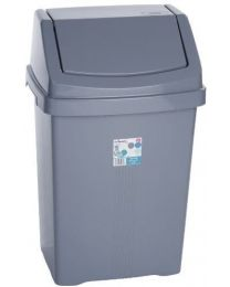 SWING BIN, SILVER/GREY, 50L 11755 By WHAM & Best Price Square by Wham