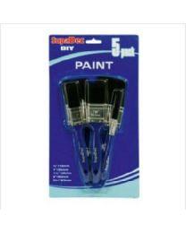 SupaDec Paint Brush Set 12mm, 25mm, 38mm, 50mm, 63mm