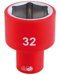 Draper 1/2 Inch Sq. Dr. Fully Insulated VDE Socket (32mm)