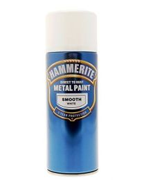 Hammerite Direct To Rust Smooth Aerosol Spray Paint- WHITE 400ml