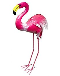 Rolson 84020 Flamingo Garden Ornament, Metal, 40x14x82 cm