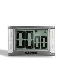 Salter Contour Kitchen Timer - Electronic Digital Cooking Stopwatch
