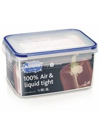 Addis Clip and Close 2.4L Rect Food storage translucent
