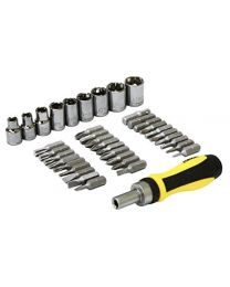 Rolson 28493 38 Piece Screwdriver, Bit & Socket Set