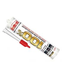 UniBond 1814388 100% Adhesive and Sealant Cartridge - 280 ml, Transparent
