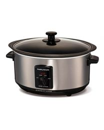 Morphy Richards Accents Sear and Stew Slow Cooker 3.5L 48701 Brushed Stainless Steel Slowcooker - Multicolor
