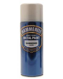 Hammerite 5084783 Metal Paint: Hammered Silver 400ml (Aerosol)