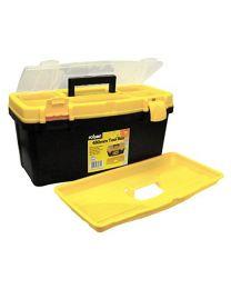 Rolson 68930 480 mm Plastic Tool Box - Black