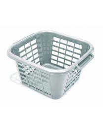 ADDIS 24 Litre Square Laundry Basket, Metallic
