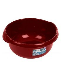 Wham High Grade 36cm Large Circular Round Washing Up Bowl Basin Mixing (Chilli Red)
