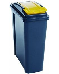VFM 384283 Recycling Bin with Lid, 25 L, Yellow