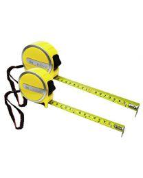 Rolson 50575 2pc Tape Measure Set