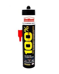 UniBond 1812411 100 % Multi-Purpose Adhesive Cartridge - 280 ml, White