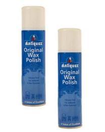 2 x Cans Of Antiquax - Original Wax polish Spray - 250ML