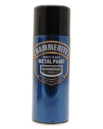 Hammerite 5084781 Metal Paint: Hammered Black 400ml (Aerosol)
