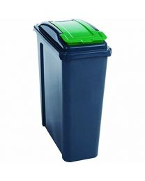 VFM 384284 Recycling Bin with Lid, 25 L, Green