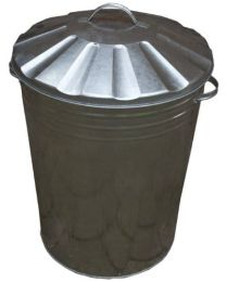 Apollo Gardening 90L Galvanised Metal Dustbin with Lid