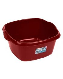 Wham High Grade Square Washing Up Bowl Basin Kitchen Mixing (Chilli Red)