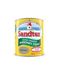 Sandtex Microseal Smooth Masonry Paint French Grey - 5L
