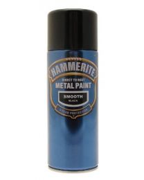 Hammerite 5092965 Metal Paint: Smooth Black 400ml (Aerosol)