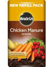 Miracle Gro Chicken Manure 8 KILO Soil Enriched Fertilizer Brand New Fast Post