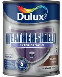 Dulux Weather Shield Quick Dry Satin Paint, 750 ml - Hazelnut Truffle