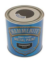 Hammerite 5084795 Metal Paint: Hammered Black 2.5Ltr