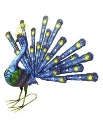 Rolson 84012 Fan Tailed Peacock Garden Ornament, Metal, 49.5x16.5x51.5 cm