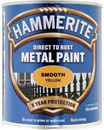 Hammerite 5092874 750ml HM Smooth Metal Paint - Yellow