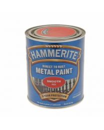 Hammerite Metal Paint Smooth ICI 5092824 750ml - Red