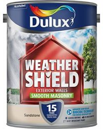 Dulux Weather Shield Smooth Masonry Paint, 5 L - Sandstone