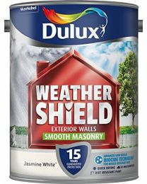 Dulux Weather Shield Smooth Masonry Paint, 5 L - Jasmine White