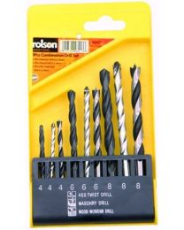 9 Piece Combination Drill Set