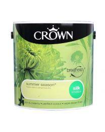Crown Breatheasy Emulsion Paint - Silk - Summer Season - 2.5L