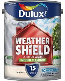 Dulux Weather Shield Smooth Masonry Paint, 5 L - Magnolia
