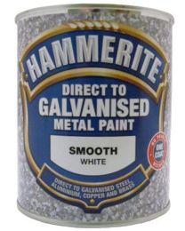 Hammerite 5097050 499 750ml Direct to Galvanised Metal Paint- White