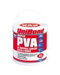 UniBond Super PVA Adhesive, Sealer and Primer Tin - 2.5 L